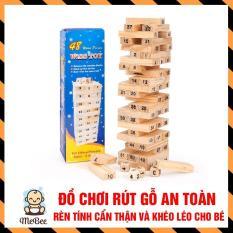 Bộ đồ chơi rút gỗ thông minh Wish Toy cho bé ( 48 thanh) SHOPMEBEE