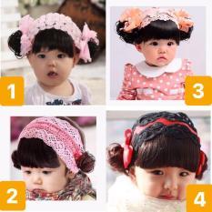 Băng đô tóc giả cho bé gái 0-4 tuổi