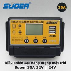 Bộ điều khiển sạc SUOER 30A năng lượng mặt trời solar changer controller 12V 24V