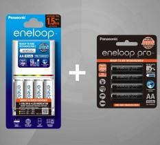 Bộ Sạc Nhanh Panasonic Eneloop BQ CC55 Kèm 8 Pin Eneloop – Hàng Chính Hãng