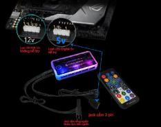 Quạt tản nhiệt máy tính – Fan case Coolmoon Sunshine Led RGB Ver 8 Plus + Led Rainbow + Bộ hub coolmoon – sync Main 5V-3pin