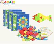 Đồ chơi bộ tranh ghép hình Montessori hình khối 130 chi tiết