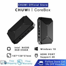CHUWI Official HeroBox pro Mini PC Windows 10 System   Intel Quad Core N4500   LPDDR4 8GB+256GB SSD   Dual Brand Wifi 4K Hard Decode   HD LAN VGA Port