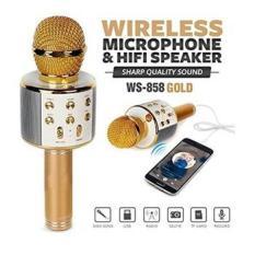 (Xã Hàng – GIá Sốc) Mic karaoke kèm loa bluetooth wster ws-858 cực hay, cực sang. hát cực đã