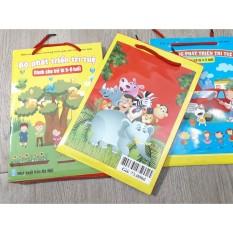 Bộ túi 8 cuốn phát triển trí tuệ cho trẻ 3 lứa tuổi