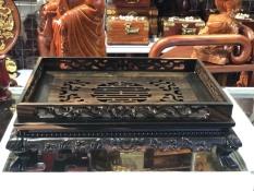 khay trà gỗ mun thiết kế cổ điển kích thước 34x45cm
