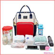 Balo / Túi bỉm sữa cho mẹ bé có ngăn giữ nhiệt sữa thời trang đa năng tiện lợi – Mikit House