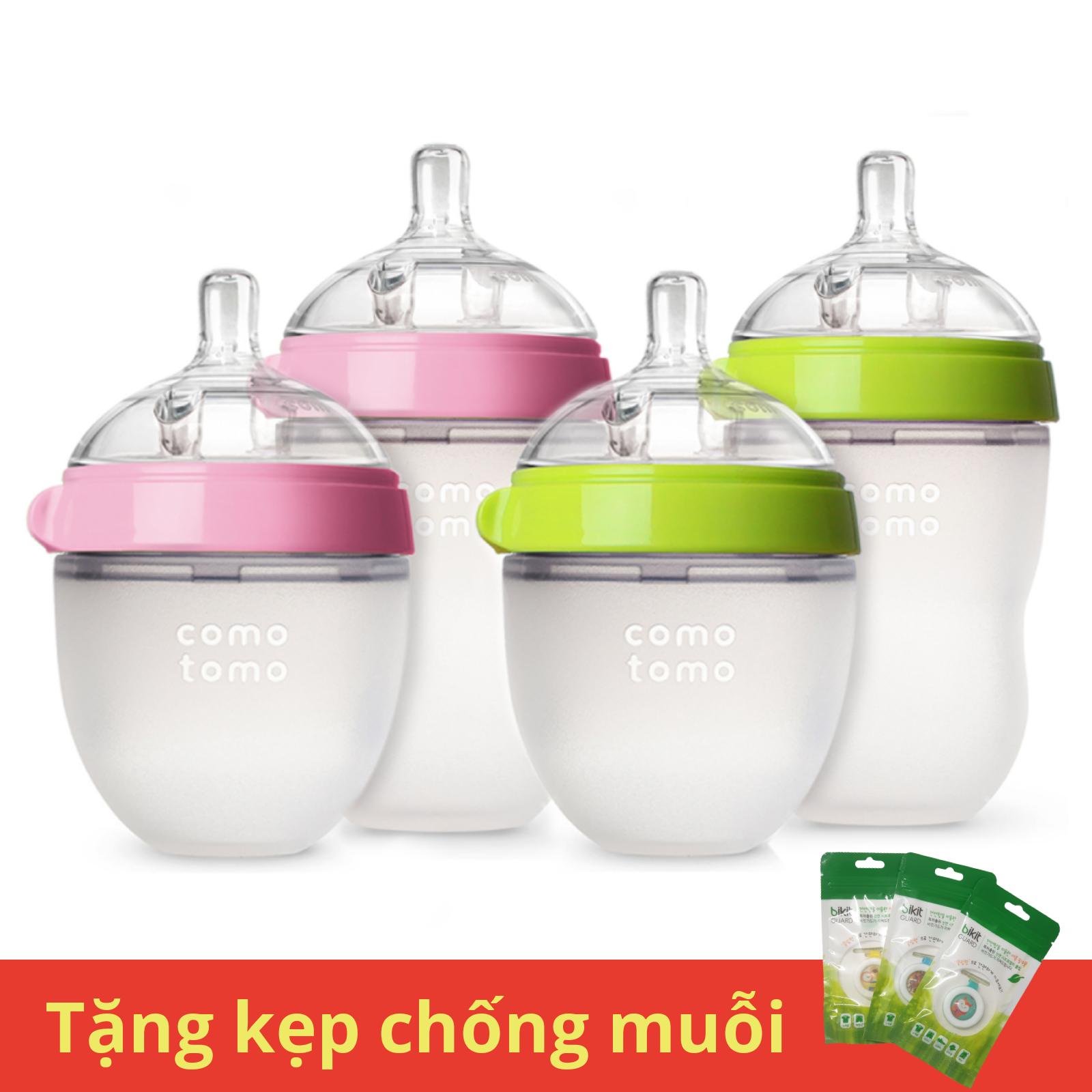Bình sữa cho bé Comotomo chính hãng dung tịch 150 / 250ml [ Tặng kẹp chống muỗi Hàn Quốc ]