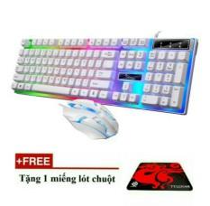Bộ phím + chuột giả cơ chuyên Game G21 led 7 màu ( tặng miếng lót chuột )