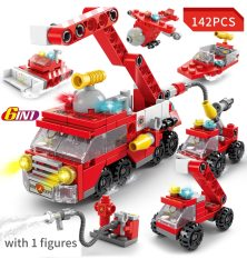 Đồ chơi trẻ em, lego xếp hình đội xe cứu hỏa, đồ chơi trí tuệ lắp ráp thông minh – Minhhanh588