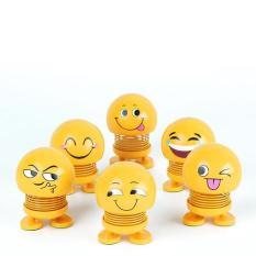 Bộ 6 thú nhún lò xo siêu hot, thú nhún Emoji biểu cảm dễ thương, 6 con 6 mẫu khác nhau