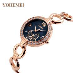 [Xả lỗ do dịch Corona] Đồng hồ nữ lắc tay đính đá YOHEMEI CH388