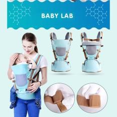 Địu em bé Baby Lab nhiều tư thế, Đai địu có bệ ngồi Baby Lab, Địu trẻ em an toàn cho bé từ 0 đến 36 tháng, thoáng mát, nhẹ và mềm mại, trợ lực tốt