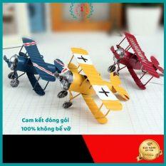 Mô hình đồ chơi phong cách vintage máy chất liệu kim loại dùng để trang trí nhà cửa giúp không gian sinh động màu sắc bắt mắt Qbinshop