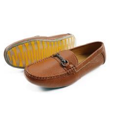 Giày Lười Cho Bé Trai Da Bò Thật Siêu Mềm Siêu Bền Ensado BY05LG (Vàng)