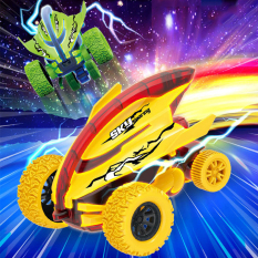 Xe ô tô đồ chơi địa hình, xe đồ chơi cho bé dáng cá mập nhào lộn 360 độ giảm xóc và chạy đà cực mạnh bằng nhựa nguyên sinh ABS BBShine – DC053
