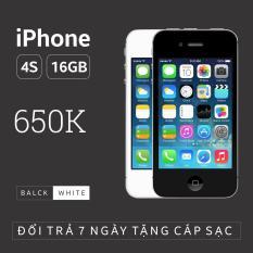 Điện thoại IPHONE 4S – 16GB giá rẻ – Phiên bản quốc tế – Bao đổi trả (Màu ngẫu nhiên trắng/đen) – SIÊU UY TÍN