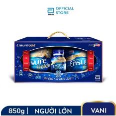 Bộ 2 lon sữa bột Ensure Gold Hương Vani 850g giúp bổ sung dinh dưỡng đầy đủ và cân đối Tặng 2 Ensure Vigor Gold 237ml