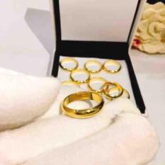 Nhẫn trơn mạ vàng 24k loại 1 chỉ loại 5 phân khắc 9999