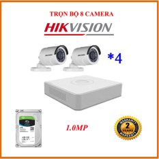 BỘ 8 CAMERA 1MP HIKVISION 16C0T-IRP