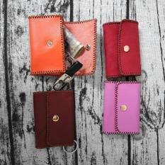 Bóp ví móc giữ chìa khóa da bò thật xinh xắn VK0116AZ (Giao màu ngẫu nhiên)