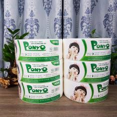 Combo (6 cuộn) giấy vệ sinh cuộn lớn 900g Jumbo Ponyo, giấy vệ sinh chất lượng cao cấp
