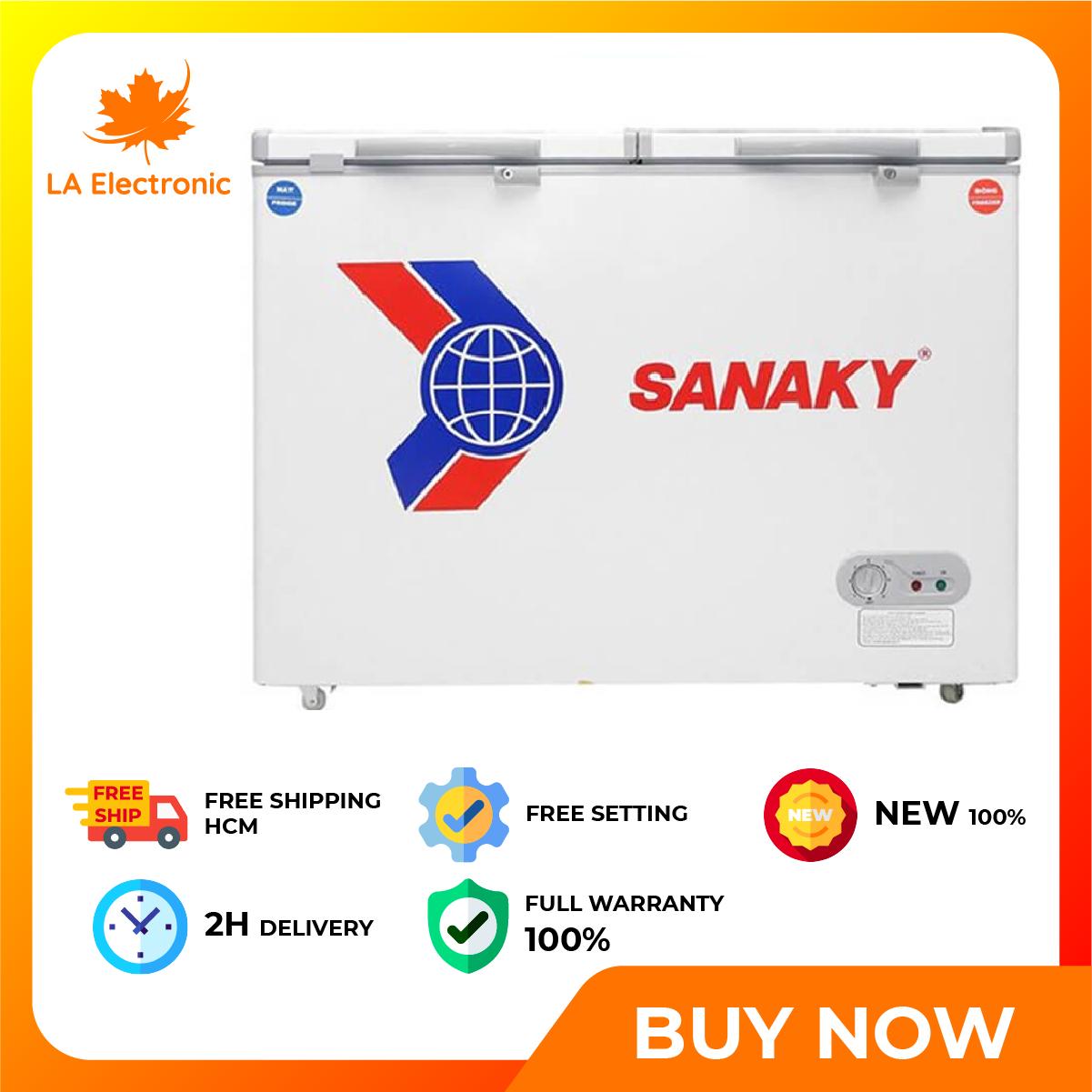 Trả Góp 0% – Tủ Đông Mát Sanaky VH-225W2 (165 Lít) – Bảo hành 12 tháng – Miễn phí vận chuyển HCM