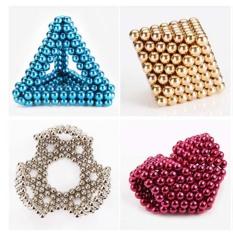 Bi nam châm tròn – Bucky ball 5mm (216 viên, 8 màu), Bi nam châm tròn – bucky ball 5mm 8 màu giúp tăng khả năng tư duy, sáng tạo, Bi nam châm, Khối bi tròn, Khối bi nam châm xếp hình, ,