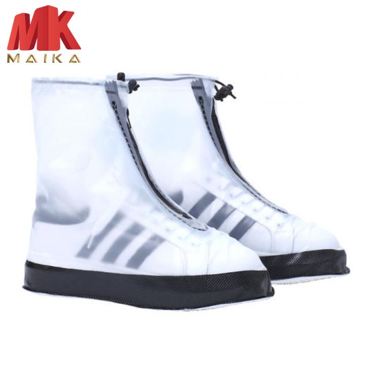 Bọc Giày Đi Mưa MK MAIKA Bằng Silicon MKPK16 Đen Dày Dặn Chống Trượt Chống Thấm Nước Tiện Dụng Cho...