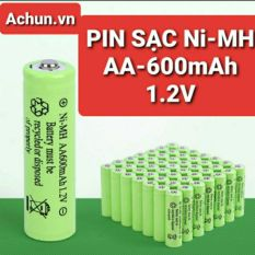 PIN SẠC Ni-MH AA 600mAh – 1.2V/1.5V kích thước 14x50mm