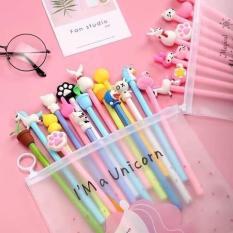 Sét 20 bút bi hình thú ngộ nghĩnh, sét 20 bút bi cực chất cho các bé, bộ bút bi nước, bút bi cho bé, sét bút bi siêu cute cho bé, sét 20 bút bi nước ngộ nghĩnh kèm túi.