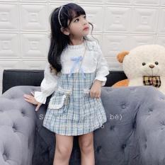 SET Váy dạ thu đông cho bé gái – Tặng kèm túi xách cực xinh