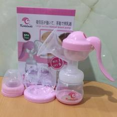 Dụng cụ hút sữa tay KICHILACHI chất liệu nhựa và Silicone an toàn [Tặng 6 túi trữ sữa] màu ngẫu nhiê