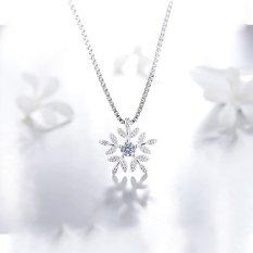 Dây Chuyền Bạc Nữ Dây Chuyền Bông Hoa Tuyết M-1569 Bảo Ngọc Jewelry