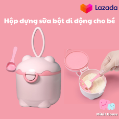 Hộp bảo quản sữa bột di động cho bé hộp đựng sữa bột cho bé chất liệu nhựa cao cấp bảo đảm an toàn cho sức khoẻ của bé [Mikit-House]
