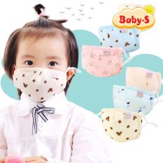 Khẩu trang vải cho bé 0-3 tuổi chất cotton thông thoáng an toàn cho da bé dùng hàng ngày nhiều họa tiết đáng yêu Baby-S – SM011