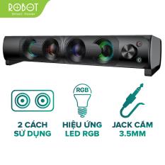 [Bảo Hành 12 Tháng] Loa thanh SOUNDBAR Kiểu dáng gaming ROBOT RS300 Hiệu ứng LED RGB Công suất lớn 6W – Hàng Chính Hãng