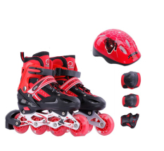 Giày Trượt Patin Bánh có đèn,có thể điều chỉnh size giành cho trẻ em và người lớn Tặng Kèm Bộ Bảo Hộ (Chân Tay + Mũ Bảo Hiểm)