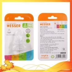 Núm vú wesser cổ hẹp vỉ 2 cái siêu mềm chất lượng đảm bảo an toàn đến sức khỏe người sử dụng cam kết hàng đúng mô tả
