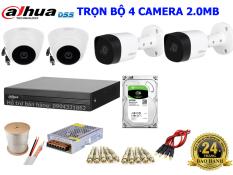 Trọn Bộ 4 Camera Dahua Full HD 1080P 2.0Megapixel kèm full phụ kiện lắp đặt DH6