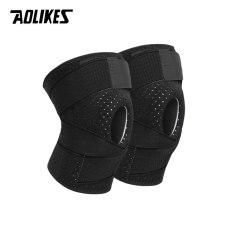 Bộ 2 đai bảo vệ khớp gối có lò xo trợ lực cao cấp Sport Knee Pad Aolikes A-7908