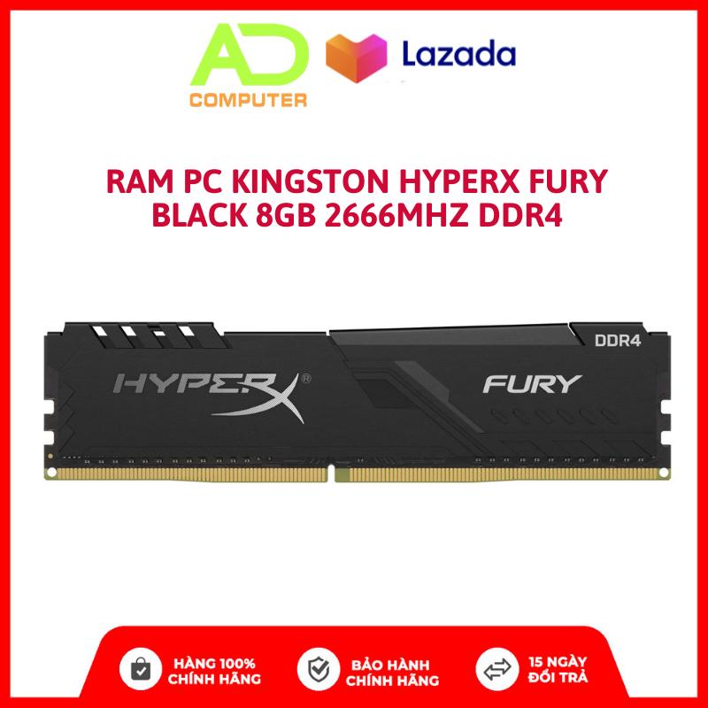 Ram PC Kingston HyperX Fury Black 8GB 2666MHz DDR4 – BH Chính Hãng 3 Năm