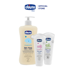 Combo Sữa tắm gội yến mạch 500ml + Kem hăm + Kem dưỡng ẩm Chicco