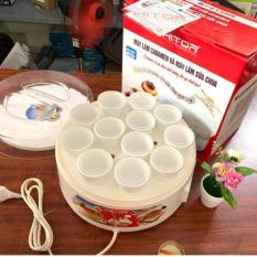 Máy Làm Caramen, Máy Làm Sữa Chua HITOP 12 Cốc Sứ Đa Năng Tiện Dụng -BẢO HÀNH 12 THÁNG