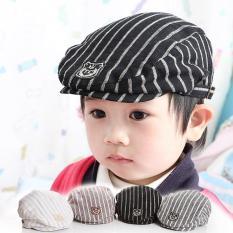 Mũ beret nồi cho trẻ em họa tiết kẻ sọc