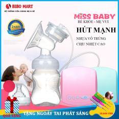 Máy hút sữa điện đơn Miss Baby thiết kế thông minh tiện dụng, có chế độ massage kích sữa điều chỉnh 9 mức độ, tháo lắp dễ dàng, chất liệu nhựa PP an toàn tuyệt đối với trẻ Bảo hành 2 năm lỗi đổi mới trong 7 ngày