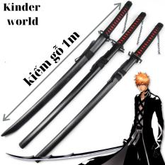 Mô hình kiếm gỗ / kiếm nhật katana / kiếm zozo bằng gỗ dài 1 mét.