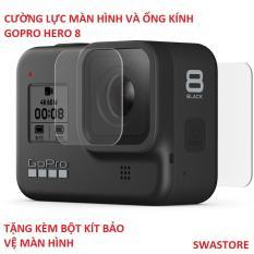 [Tặng bộ kit vệ sinh màn hình] Combo cường lực màn hình và ống kính GOPRO Hero 6, Hero 7, Hero 8 – bộ 2 miếng – SWASTORE