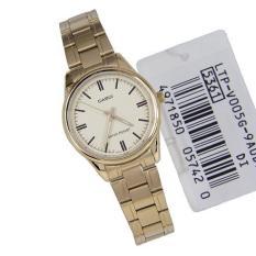 Đồng hồ nữ dây thép không gỉ Casio Anh Khuê LTP-V005G-9AUDF