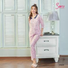 Sunfly Bộ pijamas linen áo tay lỡ, quần lỡ ST8638